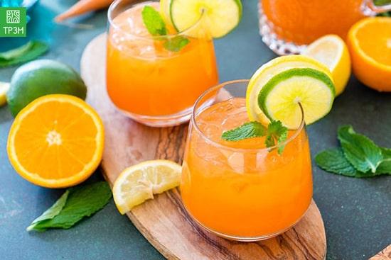 Nước ép cà rốt mật ong vị cam mùi bạc hà