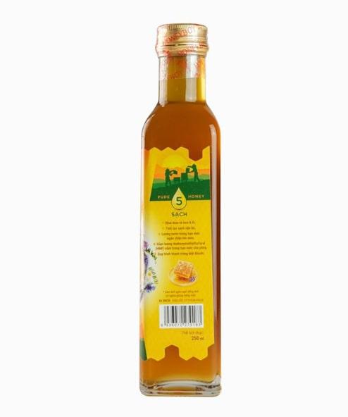 Mật Ong Thiên Nhiên 5 Sạch Honeyboy chai 250ml 1